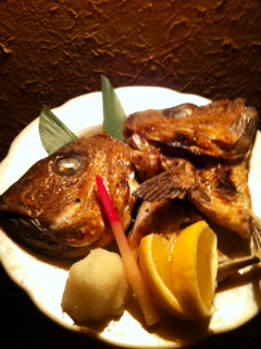 めで鯛、真鯛のかぶと焼